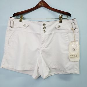 One 5 One White Dressy Shorts New With Tags